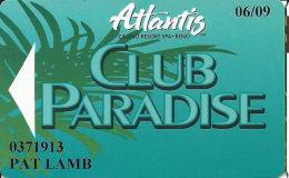 Atlantis Casino Reno, NV Slot Card - (I) Over Mag Stripe - SM In Logos Front & Back - Casino Cards