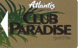 Atlantis Casino Reno, NV Slot Card - (I) Over Mag Stripe  (BLANK) - Casino Cards