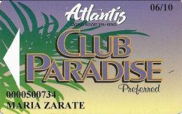 Atlantis Casino Reno, NV Slot Card - (I) Over Mag Stripe - Casino Cards
