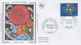 Enveloppe  FDC  1er  Jour  Cinquantenaire Du  Traité  De  ROME   2007 - 2000-2009