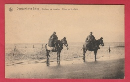 Oostduinkerke - Pêcheurs De Crevettes - Retour De La Pêche - 1924 ( Verso Zien ) - Oostduinkerke