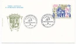 4 Enveloppes TAAF - Premier Jour Bicentenaire Révolution - 4 Cachets Différents Du 14 Juillet 1989 - FDC