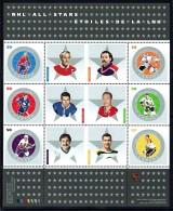 2005  Hockey Stars: Richard, Fuhr, Stanley, Pilote, Trottier, Bucyk  Souvenir Sheet Of 6 Different Sc 2085  MNH - 1952-.... Reign Of Elizabeth II