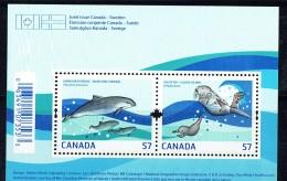 2010  Harbour Purpoise, Sea Otter  Souvenir Sheet Of 2 Different Sc 2387  MNH - 1952-.... Elizabeth II
