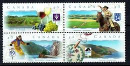 1997  Scenic Highways Series 1 - Skiing, Wine, Cowboys,  MNH Block Of 4 Different Sc 1650-3 - 1952-.... Reign Of Elizabeth II