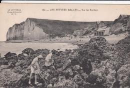 Cp , 76 , LES PETITES-DALLES , Sur Les Rochers - France