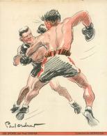 Publicité Produit Pharmaceutique Biotrigon Illustrée Par Ordner, Les Sports, Combat De Boxe - Publicités
