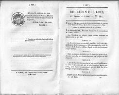 Bulletin Des Lois N°101 - 10 Mai 1833 - Concession Du Canal De Jonction De La Sambre à L'Oise, Depuis Landrecies Jusqu'à - Decrees & Laws