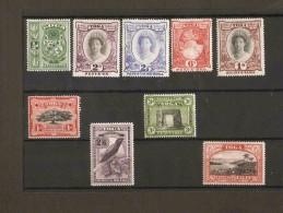 TONGA 1942 - 1949 SET SG 74/82 MOUNTED MINT Cat £65 - Tonga (...-1970)