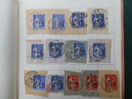 LOT DE27  FRAGMENTS   TIMBRES F.M. ANNEES 1930 AVEC OBL. COLONIES - Marcofilie (losse Zegels)