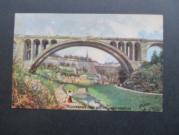 AK / Künstlerkarte Luxemburg 1912 Pont Adolphe - Adolphbrücke. Oilette. Tuck's PostkarteNo 737. Esch Sur Alzette - Luxemburg - Stadt