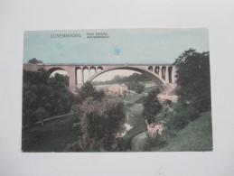 AK Luxemburg Pont Adolphe. Adolphbrücke. Panorama. P C. Schoren. - Luxemburg - Stadt
