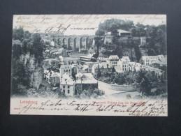 AK Luxemburg 1905 Letzeburg. D'ennesch Petress Mat Der Passerelle. Champagne E. Mercier & Cie. Epernay & Luxemburg - Luxemburg - Stadt