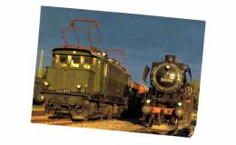 Thème - Train - Dampflok - Locomotive à Vapeur 50 2740 (1942) Et Höllental Ellok E 44 1170 (1944) - Bahnhof Seebrugg - Trains