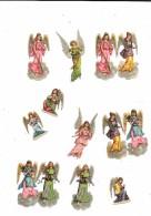 9083 - Lot De 10 Découpis, Enfants Femmes Anges - Angeles