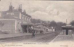 27----GLOS-MONTFORT---la Gare De L'ouest---voir 2 Scans - Autres Communes