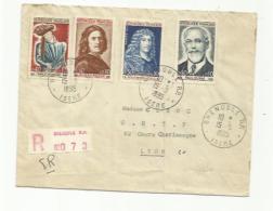 FRANCE :   Série 1442 à 1445 Sur Recommandé Pour Lyon CaD Du 15 09 1965 De Grenoble - Marcophilie (Lettres)