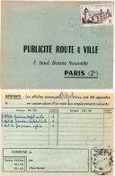 Publicité Route Et Ville Paris - Commune Saint- Christophe Des Bois (35)     (87647) - Publicité