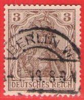 MiNr.84II.a O Deutschland Deutsches Reich - Usados