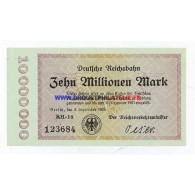 ALLEMAGNE DIX MILLION MARK Pick 1014 TRES BON ETAT - Unclassified