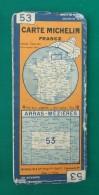 Carte Ancienne Michelin - Arras - Mézières - Numéro 53 - Cartes Routières
