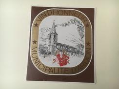 726 - Suisse Valais Vin D'honneur Municipalité D'Ardon Réception De M. Marius Lampert Président Du Conseil D'Etat 1973 - Etiquettes