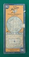 Carte Ancienne Michelin - Rodez - Nîmes - Numéro 80 - Roadmaps