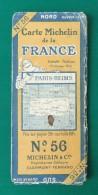 Carte Ancienne Michelin - Paris - Reims - Numéro 56 - Cartes Routières
