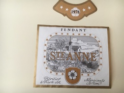 731 - Suisse Valais  Fendant Ste Anne 1978 Heritier & Favre Sion - Etiquetas