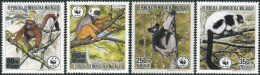 Madagascar 1988. Michel #1110/13 MNH/Luxe. WWF. Lemurs (Ts30) - Singes
