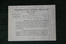COMITE DES EXPOSITIONS - Exposition Des Journées Médicales De PARIS, JUIN 1929 - Old Paper