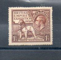 Grande Bretagne. British Empire Exposition 1924. 1 1/2 - 1902-1951 (Könige)