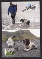 AUSTRALIA 2015 FOUR MAXIMUM CARDS DOGS MACQUARIES ISLANDS - Cartas Máxima