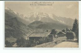 74 SAINT NICOLAS DE VEROCE , Attelage Avec Charette De Foin - Autres Communes