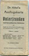 Unterfranken Und Benachbarte Gebiete - Dr. Kittel - 1:200´000 - 82cm X 86cm - Angabe Der Kilometrischen Ortsentfernunge - Topographische Karten