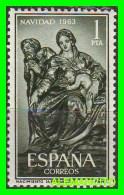 ESPAÑA  SELLO   AÑO 1963  NAVIDAD - 1961-70 Nuevos & Fijasellos