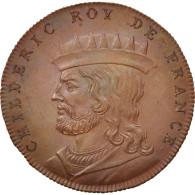 France, Medal, Childéric I, History, XIXth Century, SPL+, Cuivre, 33 - France
