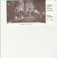 VENISSIEUX - TICKET D'ENTREE -1ER SALON DE LA CARTE POSTALE  31 MARS 1985 - Toegangskaarten