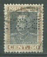 ITALIA 1927: Sassone 218 / YT 208, PERFIN, O- FREE SHIPPING ABOVE 10 EURO - Usados