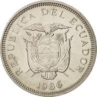 Équateur, Sucre, Un, 1986, SUP, Nickel Clad Steel, KM:85.2 - Ecuador