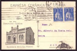 Postal Comercial EMPRESA CERAMICA De LISBOA Rua Da Boavista / Prazeres LISBOA Publicidade PORTUGAL 1922 - Lisboa