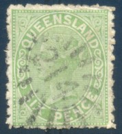 Queensland Numeral Cancel 214 TOOWOOMBA On SG 170. - 1860-1909 Queensland
