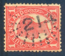 Queensland Numeral Cancel 214 TOOWOOMBA On SG 233. - 1860-1909 Queensland