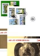 2 FDC Olympia-Stadion Berlin 1936 Korea 2884/7+Bl.227 170€ Schloß Reichstag Pfaueninsel Architectur Sheet Bf Corea/Coree - Summer 1936: Berlin