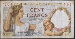 FRANCE 1 BILLET De BANQUE De 100Francs Type Sully - N° DT . 30=10=1941 . DT . - 1871-1952 Antichi Franchi Circolanti Nel XX Secolo