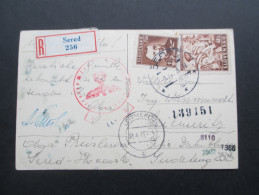 Slowakei - Sudetenland / Sudetengau 1943 Ansichtskarte Mit Vielen Zensurstempeln! Sered 256 - Leitmeritz.Mutter Mit Kind - Slowakische Republik