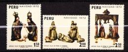 PEROU  N° 574 / 575 / 576  NEUF** TTB  SANS CHARNIERE / MNH PETIT PLIE ANGLE HAUT A GAUCHE SUR N° 575 - Peru