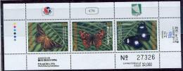 (cl. 39 - P.2) Iles Marhall ** Bloc N° 19 - Papillons Philakorea 1994 - Butterflies