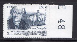 France  2011.Adhésif.250é Anniversaire De La Première Ecole Vétérinaire Du Monde à Lyon - Adhesive Stamps