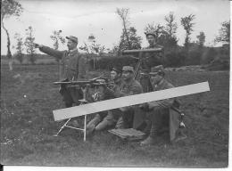 1916 Mitraileuse Saint-étienne Et Télémètre équipe De Mitrailleurs Du 26ème R.I  1 Photo 1914-1918 Ww1 Wk1 - War, Military